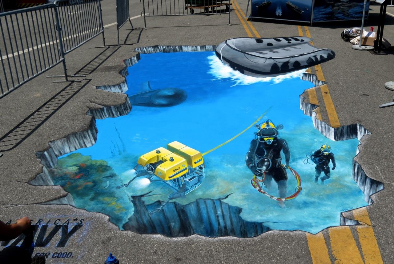 3d street painting murals chalk art for events for 3d mural painting