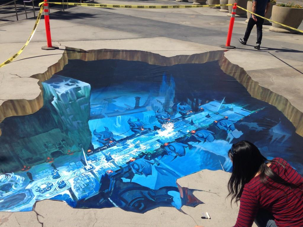 3d street painting murals chalk art for events for Airbrushing mural