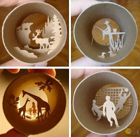 Creative Crafts From Toilet Paper Rolls By French Artist
