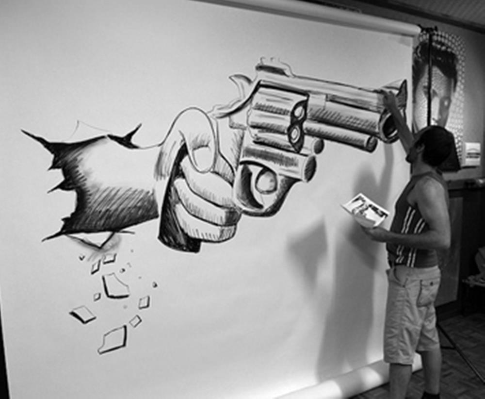Cool pencil artwork pencil drawing with great 3d zoom zoom