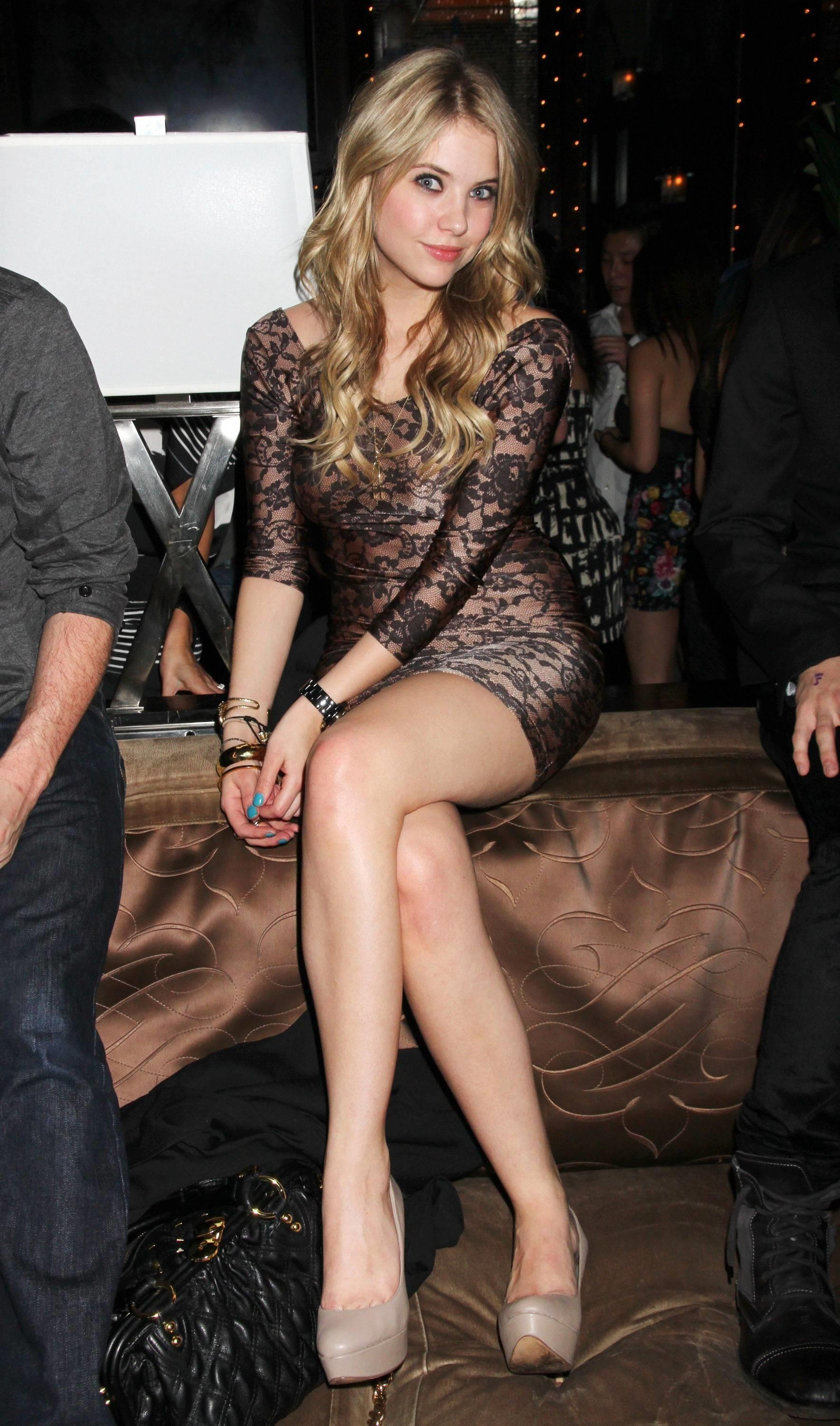 Ashley Benson in see through dress