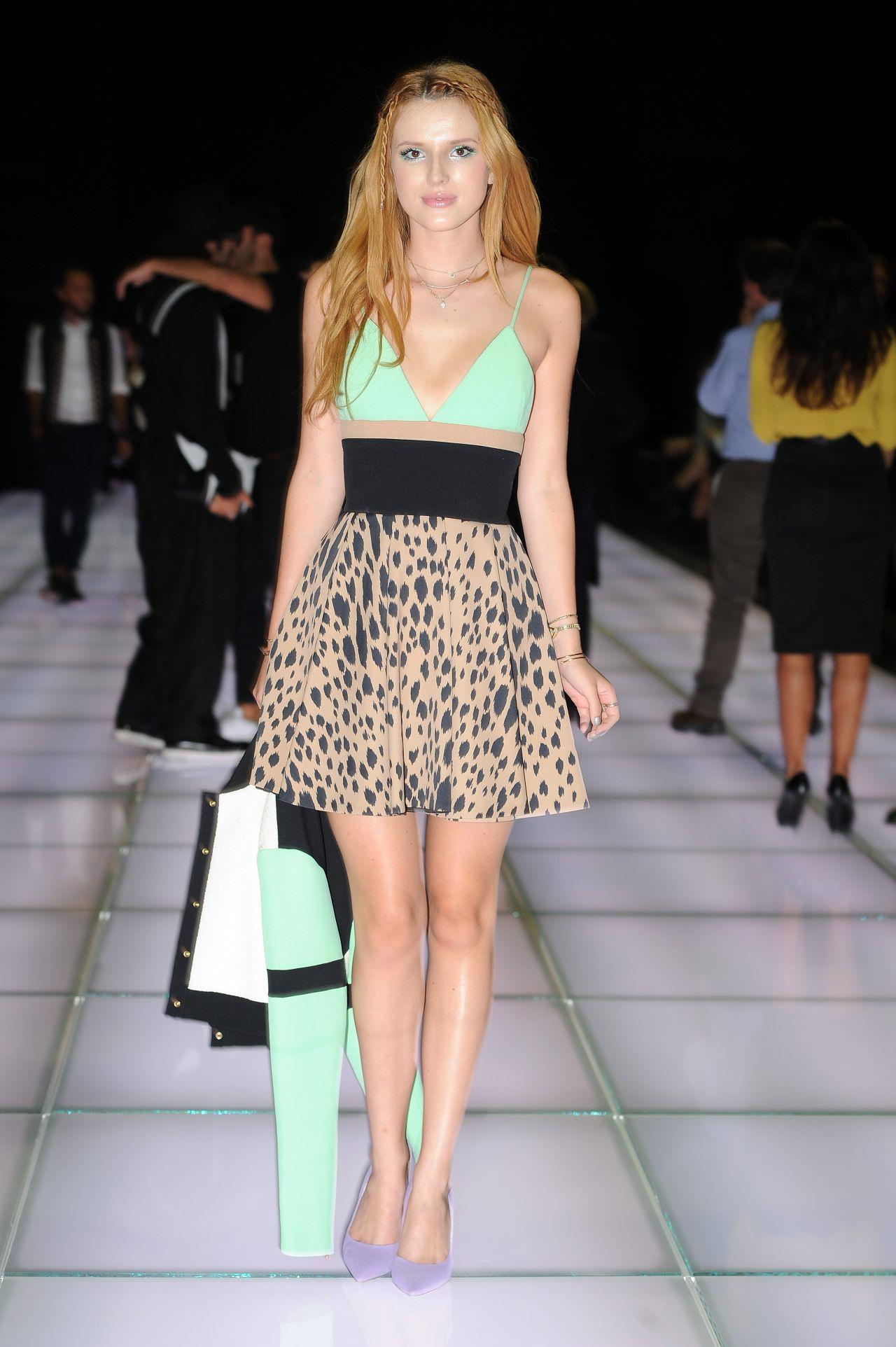 Bella Thorne In Italy Fausto Puglisi Show In Milan