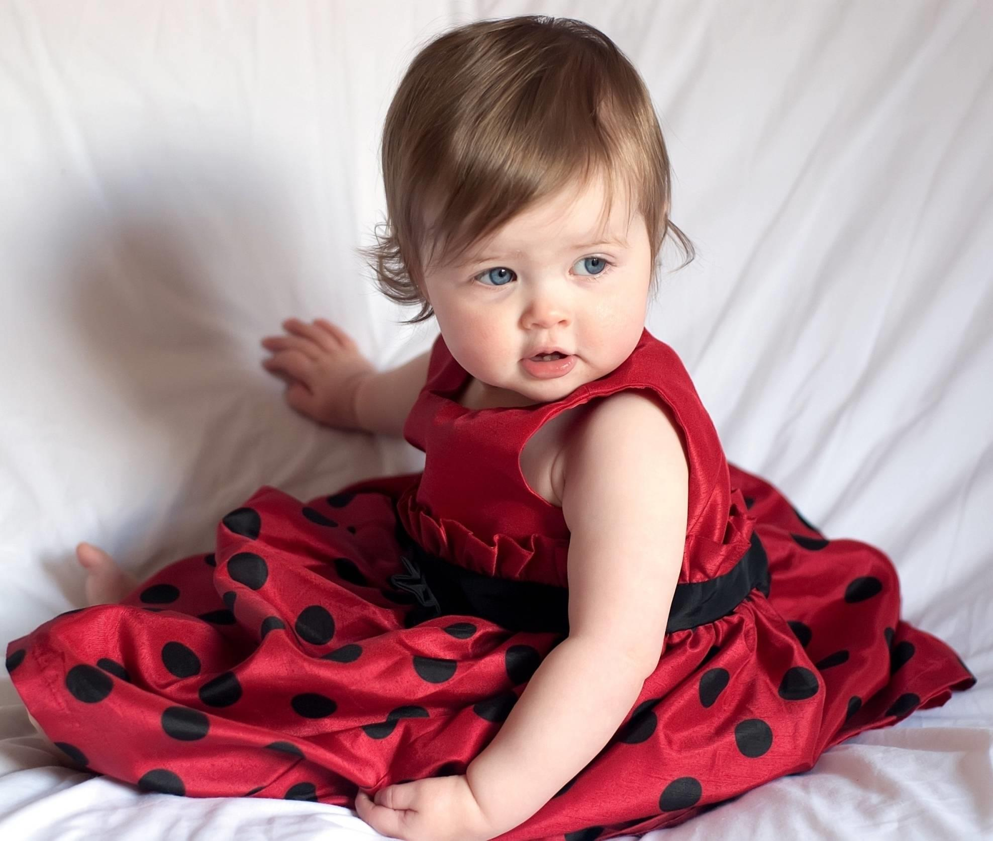 cutest baby girl red frock