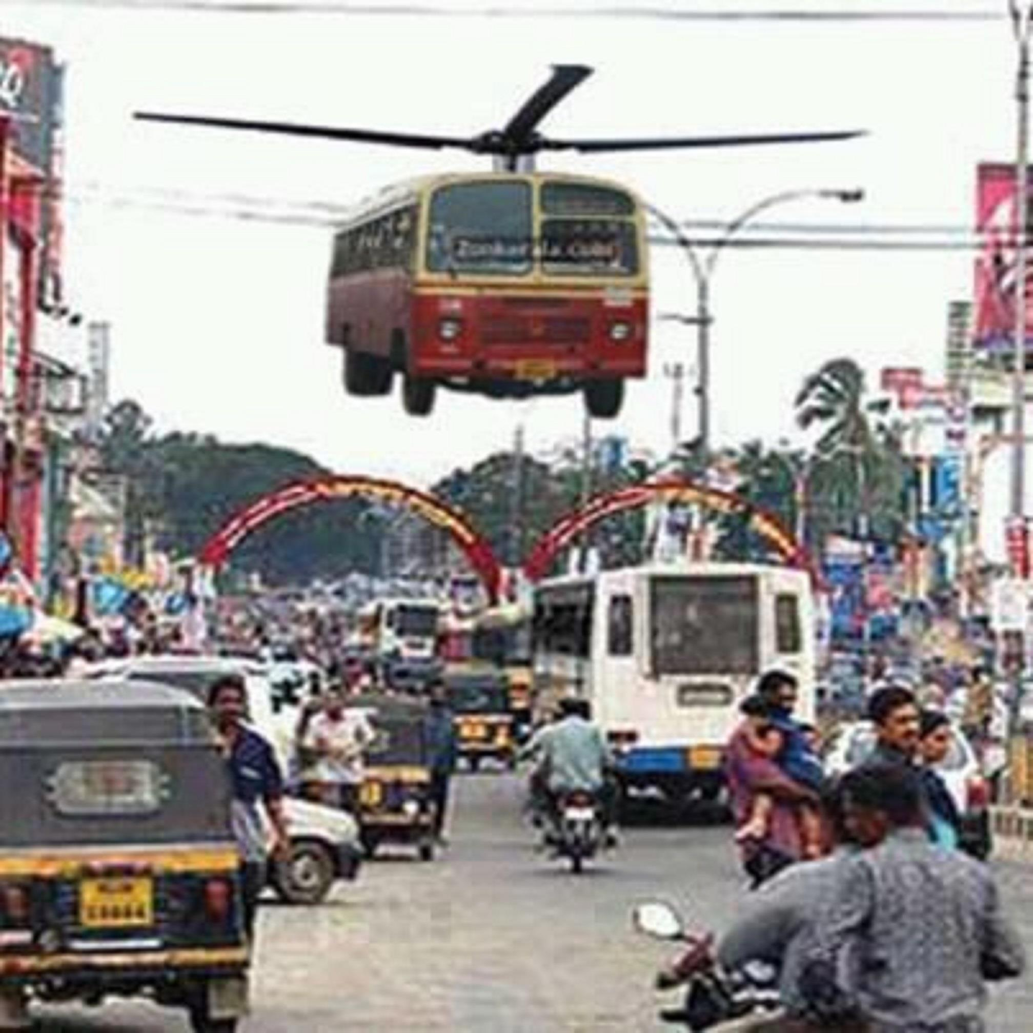 Funny Pictures For Facebook Upload In Hindi Funny Flying Bus