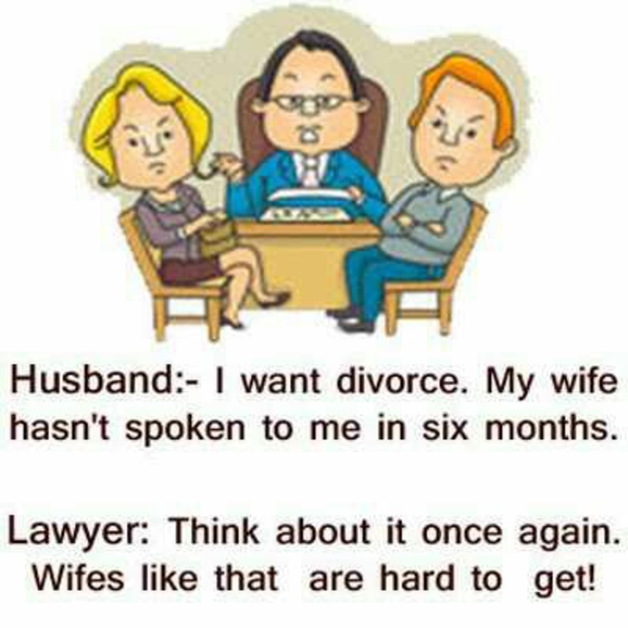 Funny Image Husband And Wife Funny Divorce