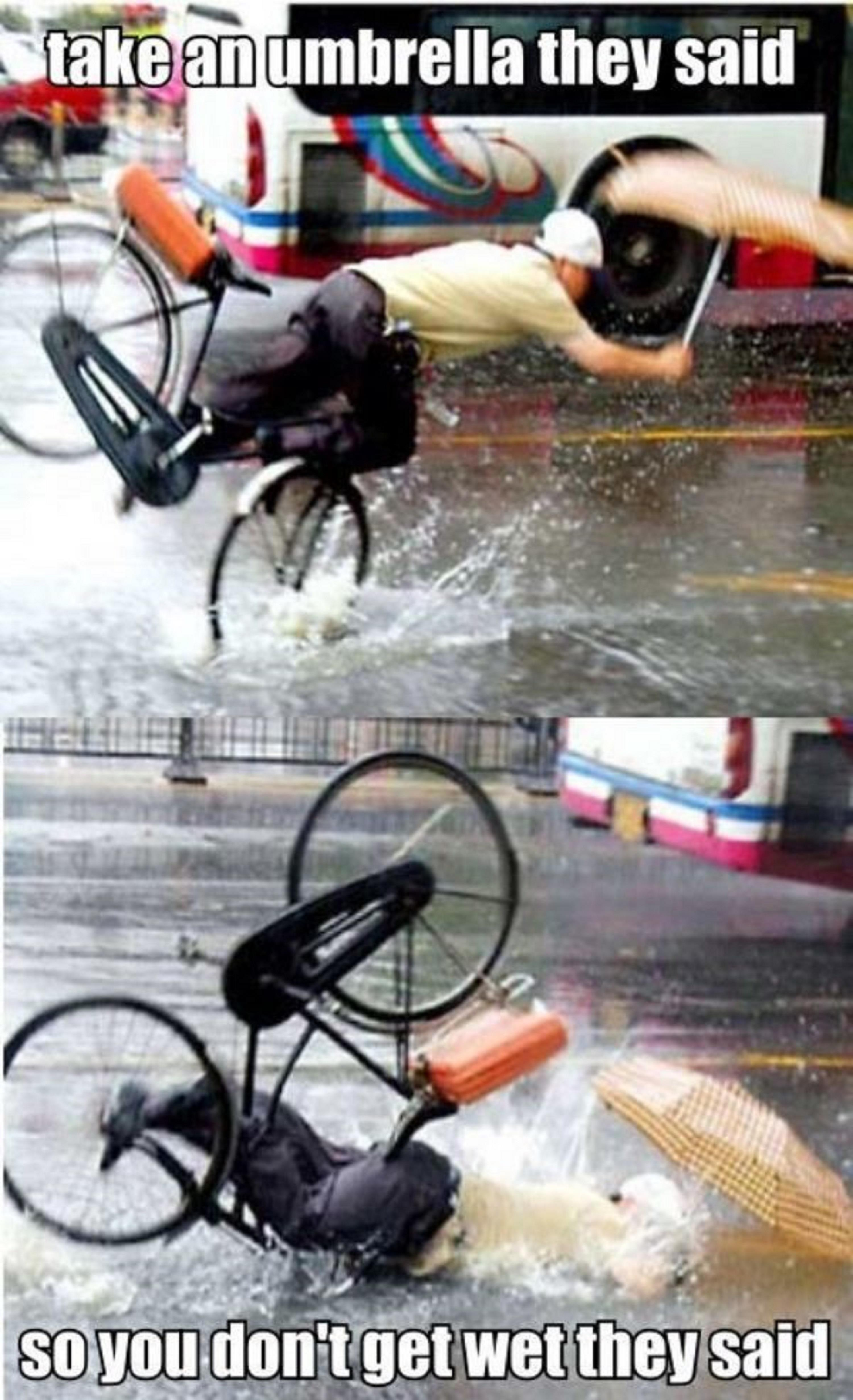 funny picture get an umbrella they said