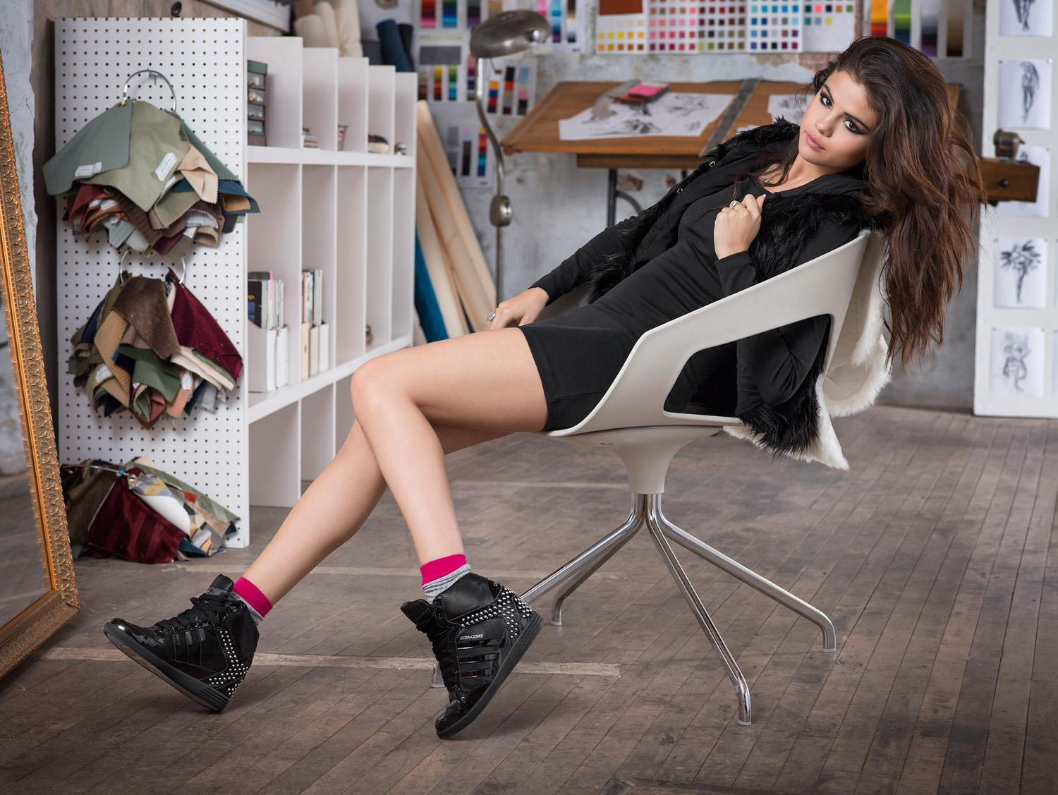 Hot and Sexy Selena Gomez Adidas Neo Fall Winter Photoshoot 5e5f39a7943d