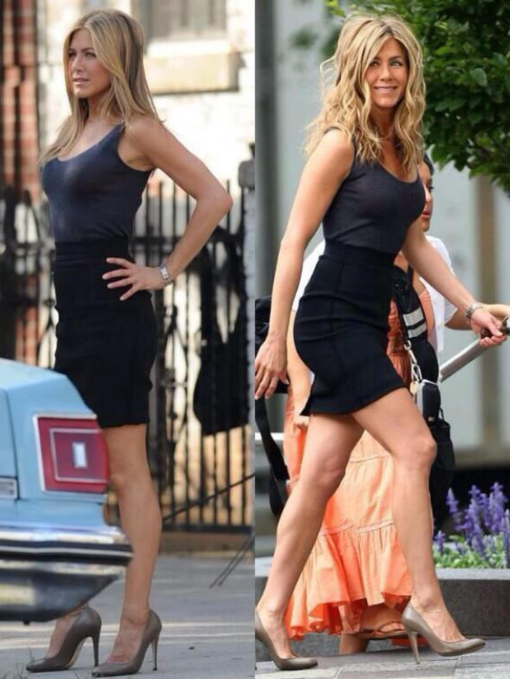 Jennifer Aniston On The Set Of Bounty Hunter