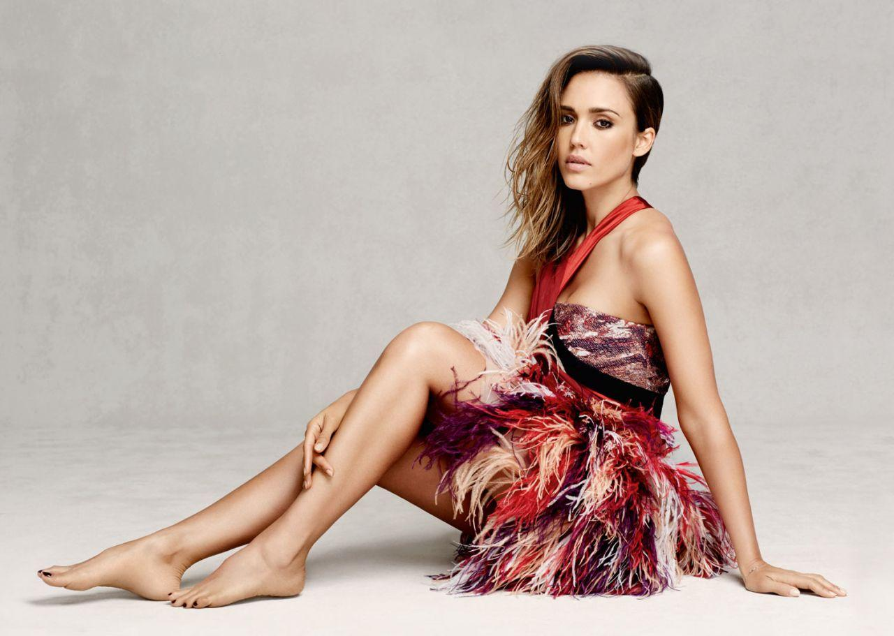 jessica alba � photoshoot for marie claire magazine