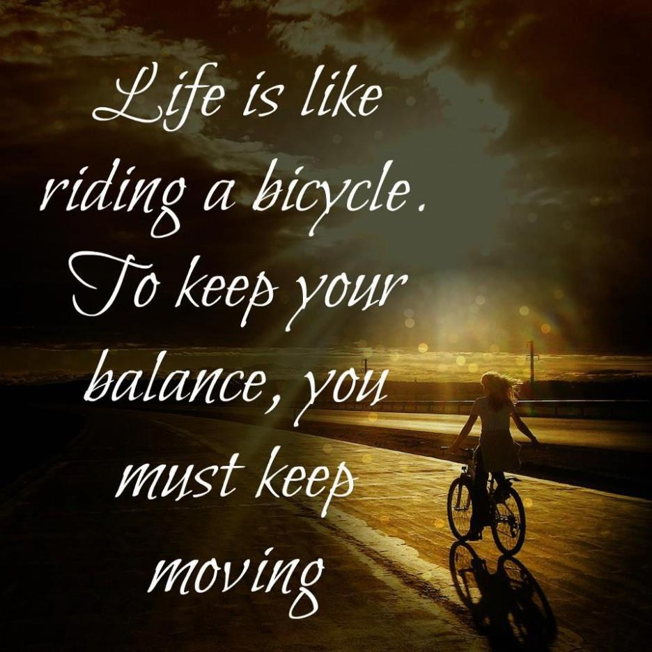 Life Is Like Quotes Funny: Life Is Like Riding Bicycle