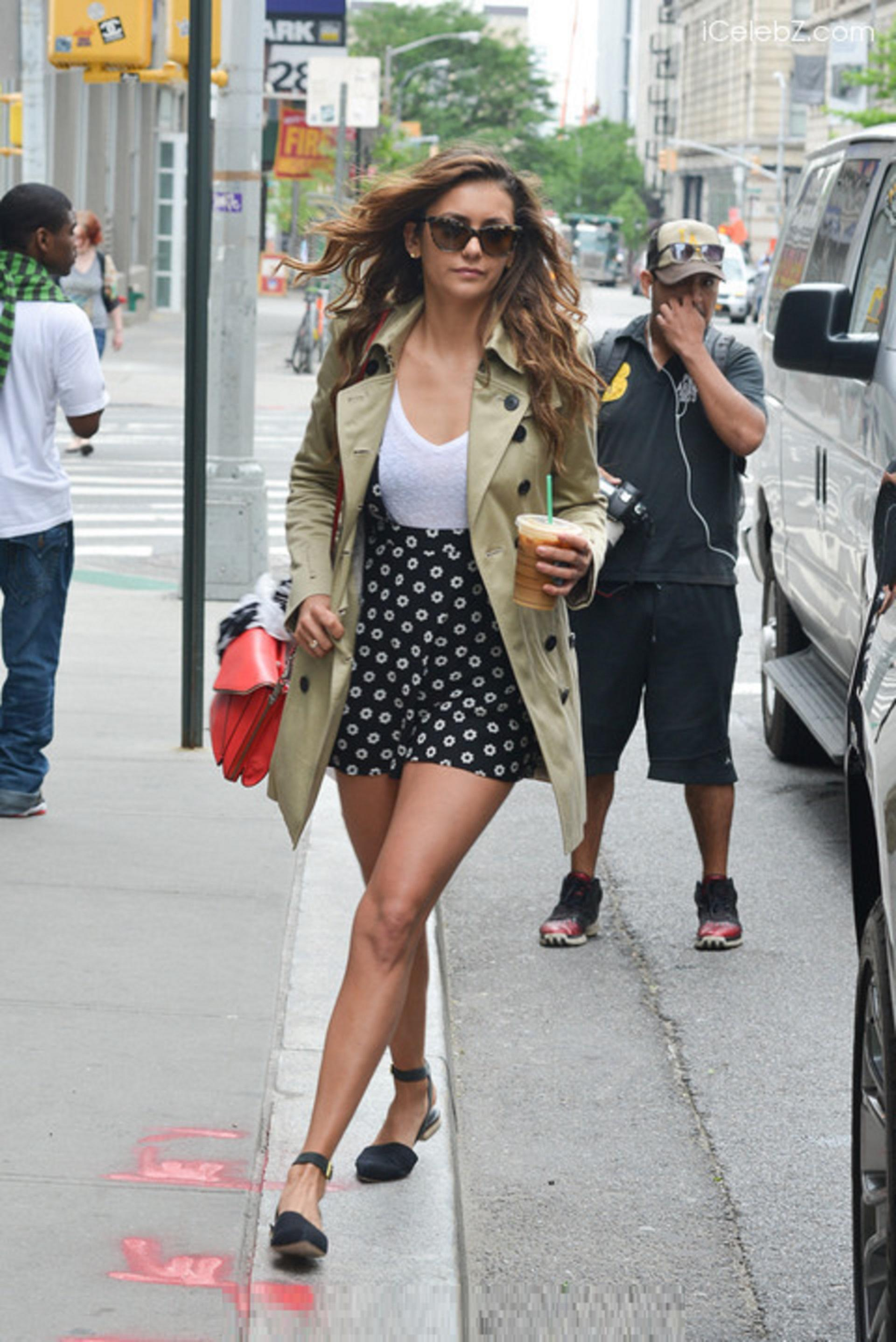 Nina Dobrev Looks Chic In New York