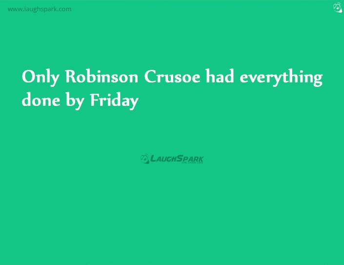 the relationship of robinson crusoe and friday Friday is one of the main characters of daniel defoe's 1719 novel robinson crusoe robinson crusoe names the man friday, with whom he cannot at first communicate, because they first meet on that day the character is the source of the expression man friday,.