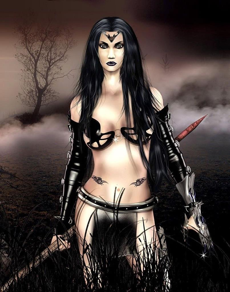 Erotic woman warrior fantasy art idea