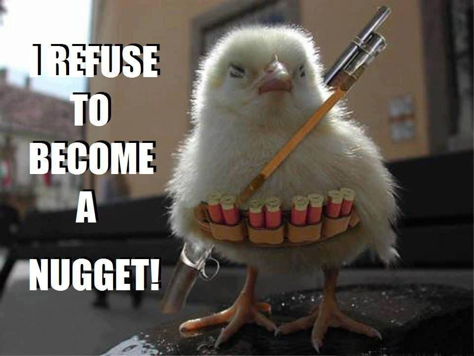 Refuse To Become A Nugget Funny Picture