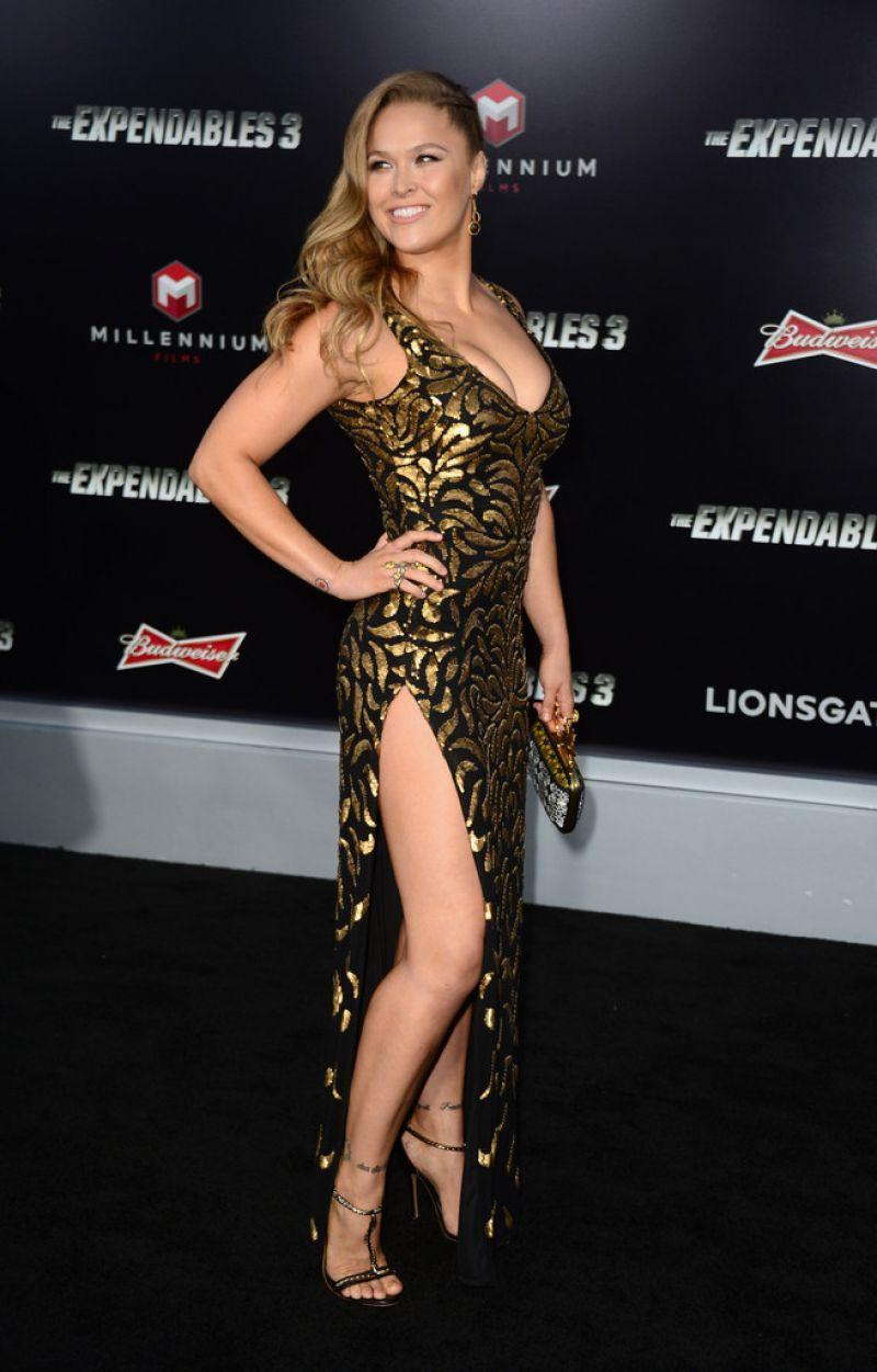 Ronda Rousey The Expendables 3 Premiere In Hollywood