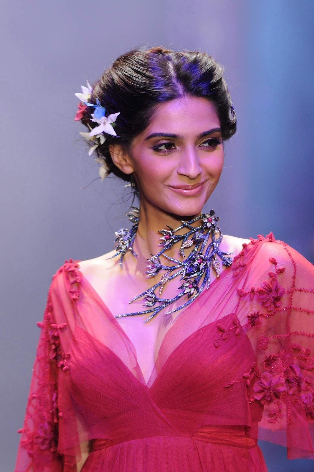 Sonam Kapoor On A Ramp Beautifully Dressed