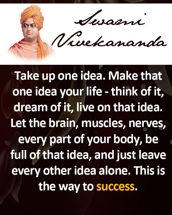 Vivekananda Quotes For Success: Success, Life, Alone