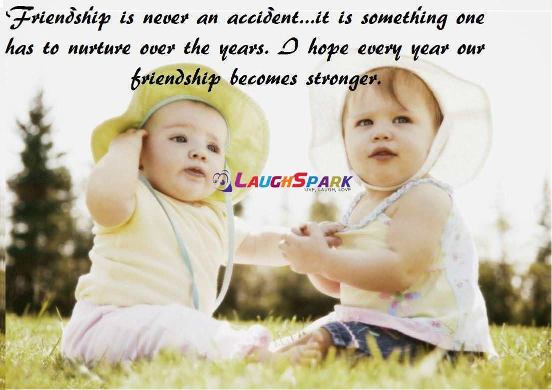 Two Cute Baby Images  Friendship Quotes