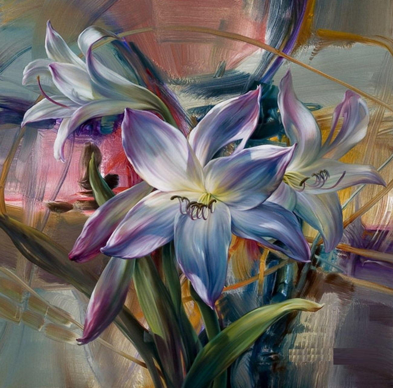 Very Beautiful Modern Oil Paintings Flowers